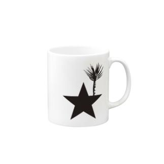 ブラックスター 004(Blackstar 004)with アロエ・ディコトマ(aloe dichotomal) Mugs