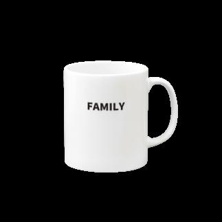 FAMILY SHOPのFAMILY(黒文字) Mugs