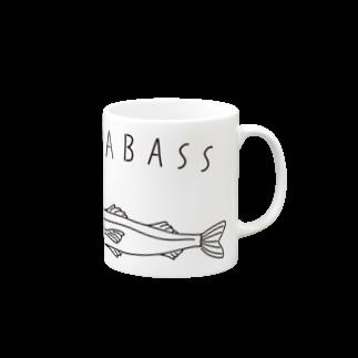 Aliviostaのシーバス スズキ ゆるい魚イラスト 釣り Mugs