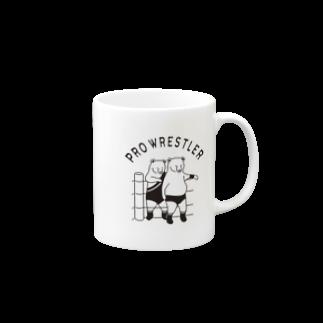 Aliviostaのプロレス タッグチーム 熊 動物イラスト Mugs