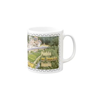 FUCHSGOLDのスペイン:セゴビア郊外の村★白地の製品だけご利用ください!! Spain: village in Segovia★Recommend for white base products only !! Mugs