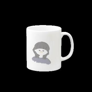 suzuのウルフ女子(白) Mugs
