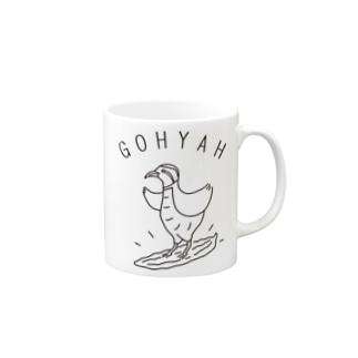 Aliviostaのゴーヤサーフィン 鳥 動物イラスト Mugs