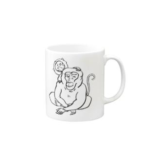 サルの親子 Mugs