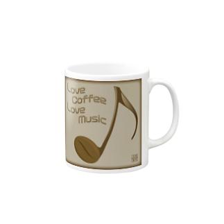 四分音符コーヒー豆 Mugs