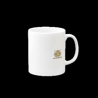 株式会社猫 (Aloha Mac Creation)のオリジナルニャンコ(majio店長顔だけVer) Mugs