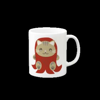 株式会社猫 (Aloha Mac Creation)の株式会社猫 まじお店長お弁当シリーズ ウィンナーver Mugs