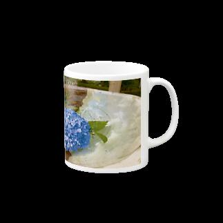 つゆりらぼの水紫陽花 Mugs