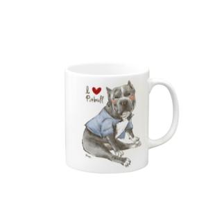 I love pitbull❤︎ Mugs