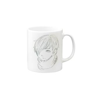 見つめる少年 Mug