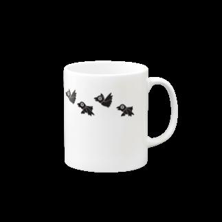 ウホホイ・ホイホーホの水平線とカラス Mugs
