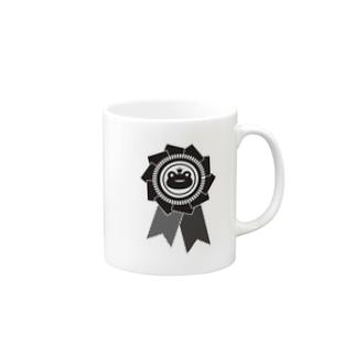 カエルロゼットブラック Mugs