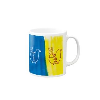 アヒルカー1号2号 Mugs