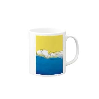 青に溶けていく Mugs