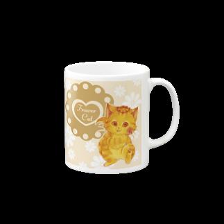 にゃんこグッズ●佐藤家の花摘み猫 Mugs