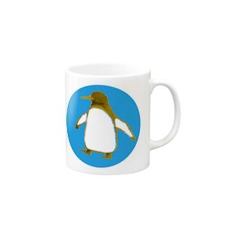 ペンギンマグカップblue Mugs