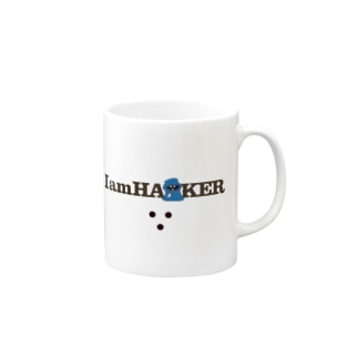 IamHA■KER(ライトカラー) Mugs