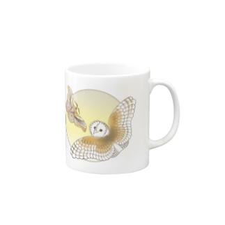 クスサンとメンフクロウ  Mugs