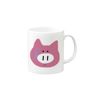 録画をミスって焦る豚ちゃん Mugs