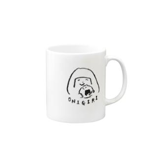陽気なおにぎりガール Mugs