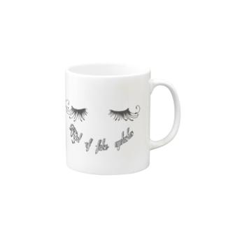 つけまつげ女子 Mugs