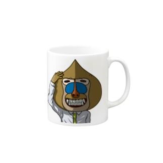 マンドリル(満堂りるを) Mugs