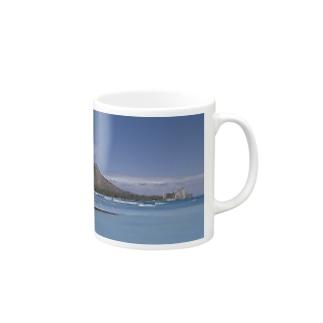 ハワイ ダイヤモンドヘッドと海 Mugs
