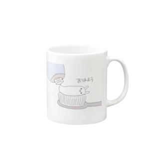 ざるそばマグカップ(おはよう) Mugs