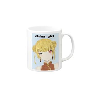 ちゃチャイナ女の子 Mugs