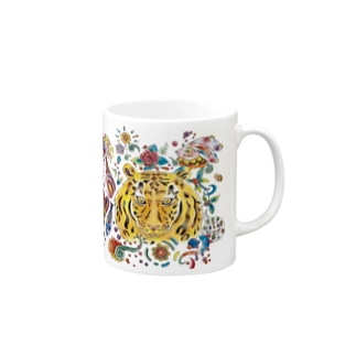カラフル虎(ズーム) Mugs