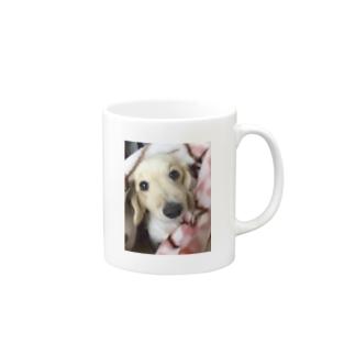愛犬と一緒 Mugs