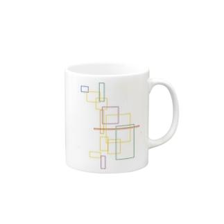 矩形カラー Mugs