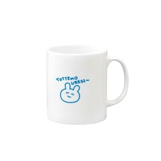 とっても嬉しいうさぎ Mugs