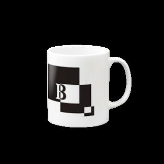 シンプルデザイン:Tシャツ・パーカー・スマートフォンケース・トートバッグ・マグカップのシンプルデザインアルファベットBマグカップ