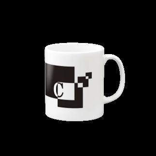 シンプルデザイン:Tシャツ・パーカー・スマートフォンケース・トートバッグ・マグカップのシンプルデザインアルファベットCマグカップ