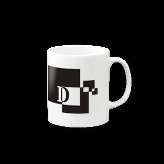 シンプルデザインアルファベットD マグカップ