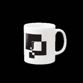 シンプルデザイン:Tシャツ・パーカー・スマートフォンケース・トートバッグ・マグカップのシンプルデザインアルファベットJマグカップ