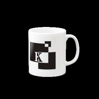 シンプルデザインアルファベットK マグカップ