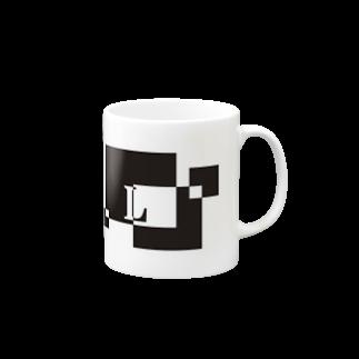 シンプルデザインアルファベットL マグカップ