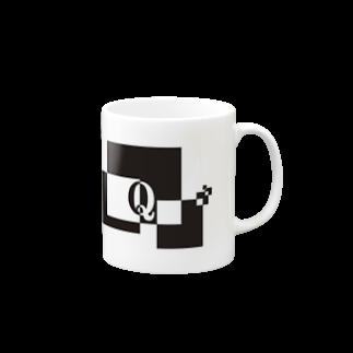シンプルデザイン:Tシャツ・パーカー・スマートフォンケース・トートバッグ・マグカップのシンプルデザインアルファベットQマグカップ