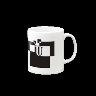 シンプルデザイン:Tシャツ・パーカー・スマートフォンケース・トートバッグ・マグカップのシンプルデザインアルファベットUマグカップ