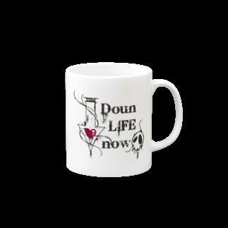 CUBIC ITEMのDoun LIFE now-白- Mugs