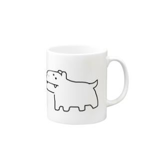 かばじゅう(白黒) Mugs