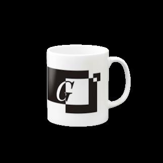 シンプルデザイン:Tシャツ・パーカー・スマートフォンケース・トートバッグ・マグカップのシンプルデザインアルファベットGマグカップ