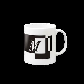 シンプルデザインアルファベットM マグカップ