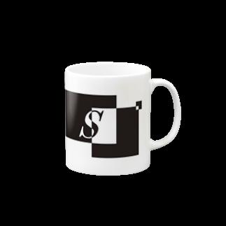 シンプルデザイン:Tシャツ・パーカー・スマートフォンケース・トートバッグ・マグカップのシンプルデザインアルファベットSマグカップ