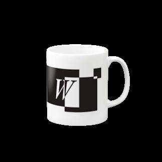 シンプルデザイン:Tシャツ・パーカー・スマートフォンケース・トートバッグ・マグカップのシンプルデザインアルファベットWマグカップ