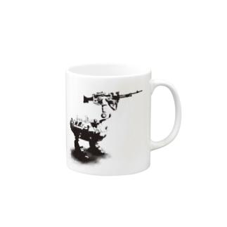 cassowary(ロゴなしモノクロロボットのみ) Mugs