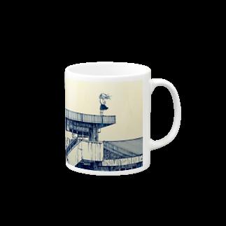どせいのわっかの風強い Mugs