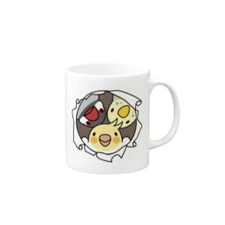 なかよしインコ【まめるりはことり】 Mugs